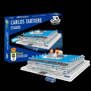Estadio 3D Real Oviedo Carlos tartiere con luz caja mas estadio